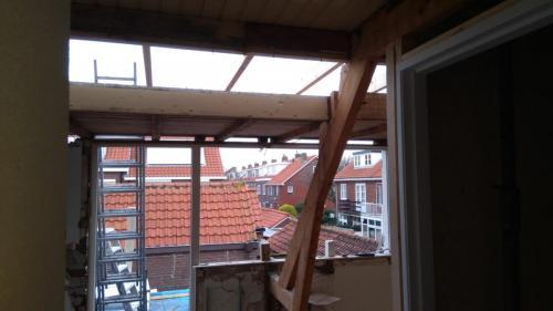 Vernieuwing van dakkapel achter